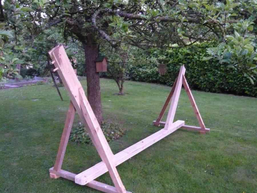 Hamac pour le repos du charpentier