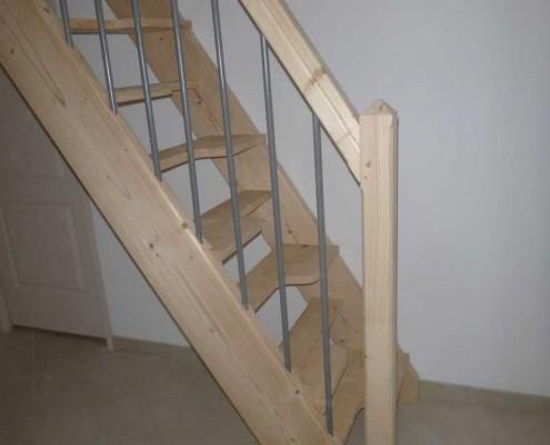 escalier sur mesure pas décalé